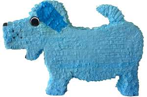 "Large 30"" Blue Dog Pinata"