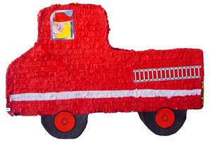 "Large 30"" Fire Engine Pinata"