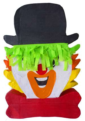 "Large 30"" Clown Head Pinata"