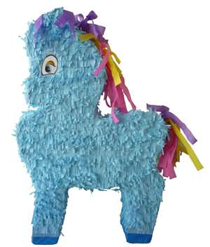 "Large 30"" Blue Pony Pinata"
