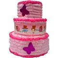 Large 3D Girl's Birthday Cake Pinata