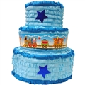 Large 3D Boy's Birthday Cake Pinata