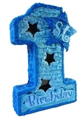 "Premium 20"" 1st Blue Birthday Pinata"