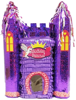 "Premium 20"" Purple Princess Castle Pinata"