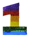 "Premium 20"" Holographic Number One Pinata"