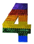 "Premium 20"" Holographic Number Four Pinata"