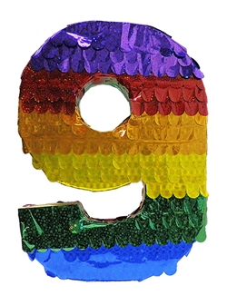 "Premium 20"" Holographic Number Nine Pinata"