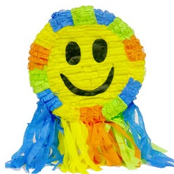 "Standard 20"" Smiley Face Pinata with Strings"
